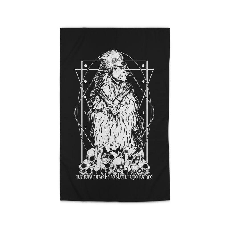 Sheep in wolf's clothing Home Rug by von Kowen's Shop