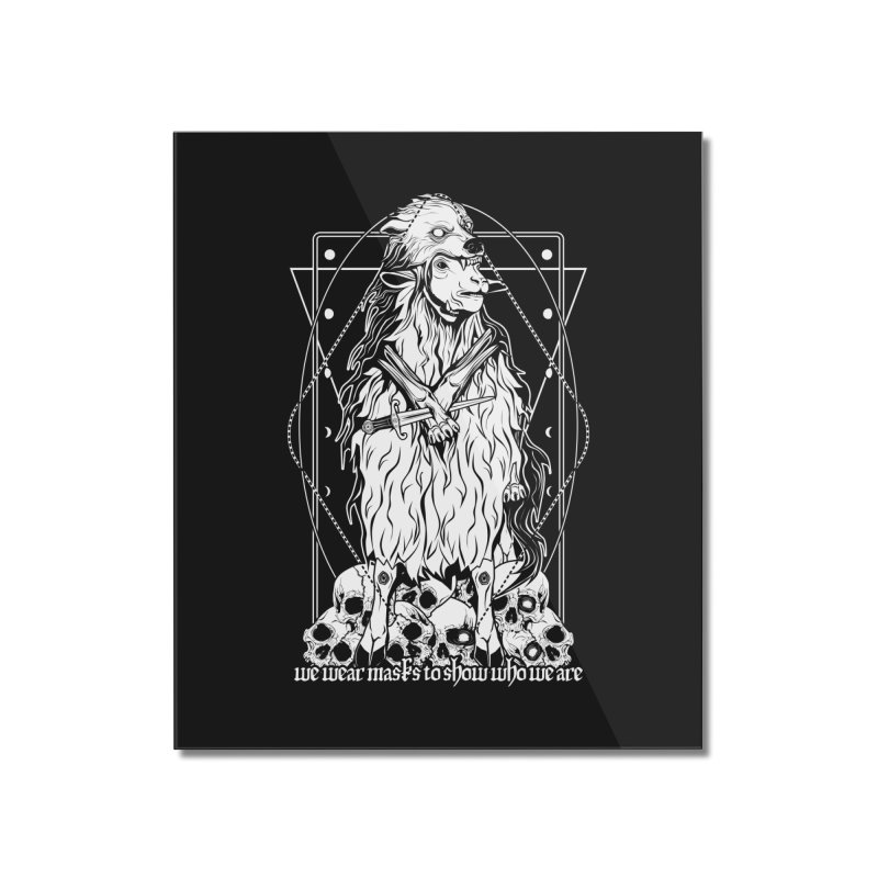 Sheep in wolf's clothing Home Mounted Acrylic Print by von Kowen's Shop