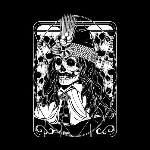 Design for Vlad Dracula - a skull portrait