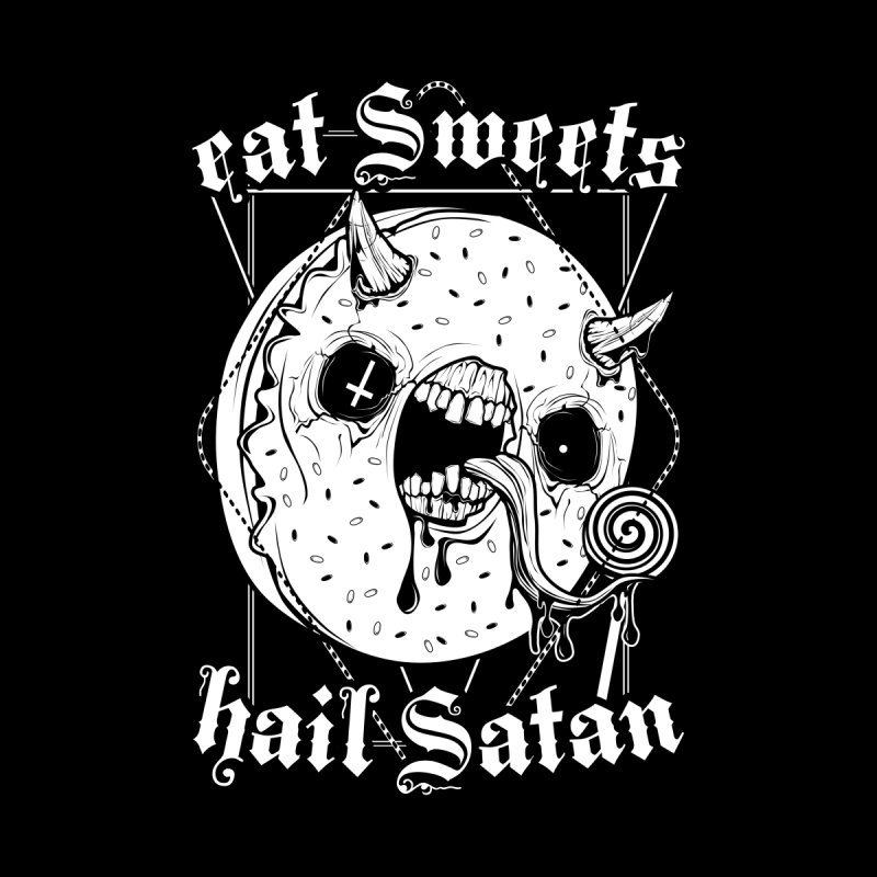 Eat Sweets Hail Satan Women's Zip-Up Hoody by von Kowen's Shop