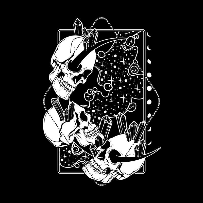 Moon Skulls and Crystals Men's T-Shirt by von Kowen's Shop
