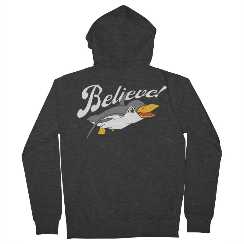 Believe! Men's Zip-Up Hoody by voorheis's Artist Shop