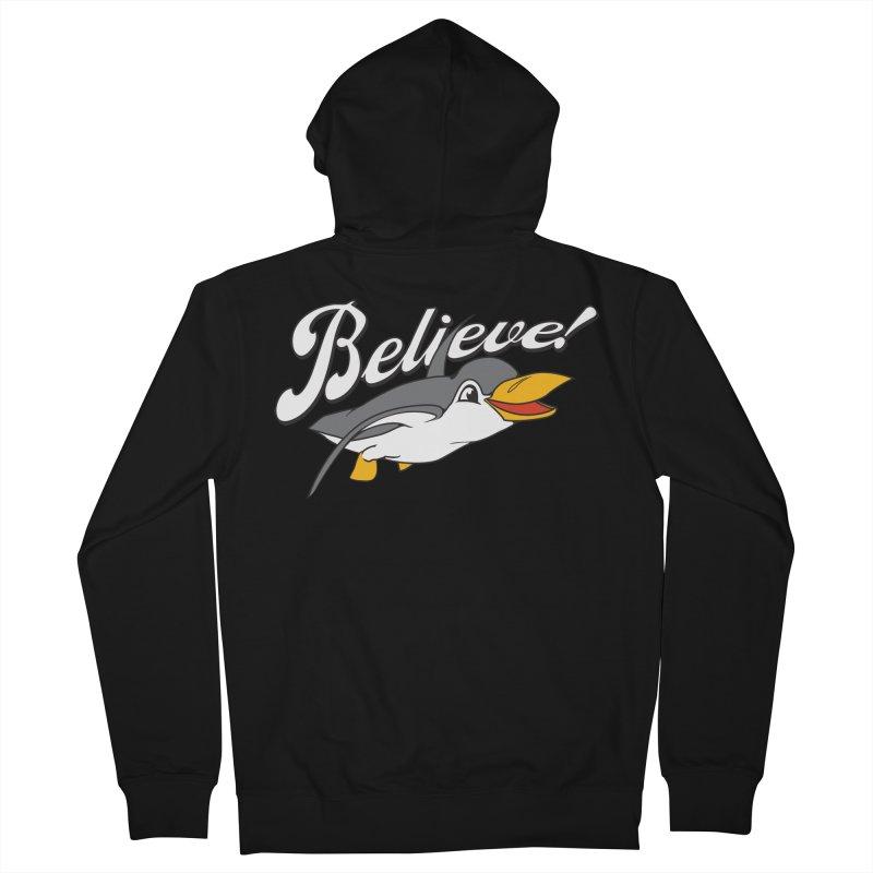 Believe! Men's Zip-Up Hoody by voorheis's Artist Shop
