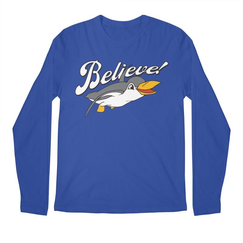 Believe! Men's Longsleeve T-Shirt by voorheis's Artist Shop