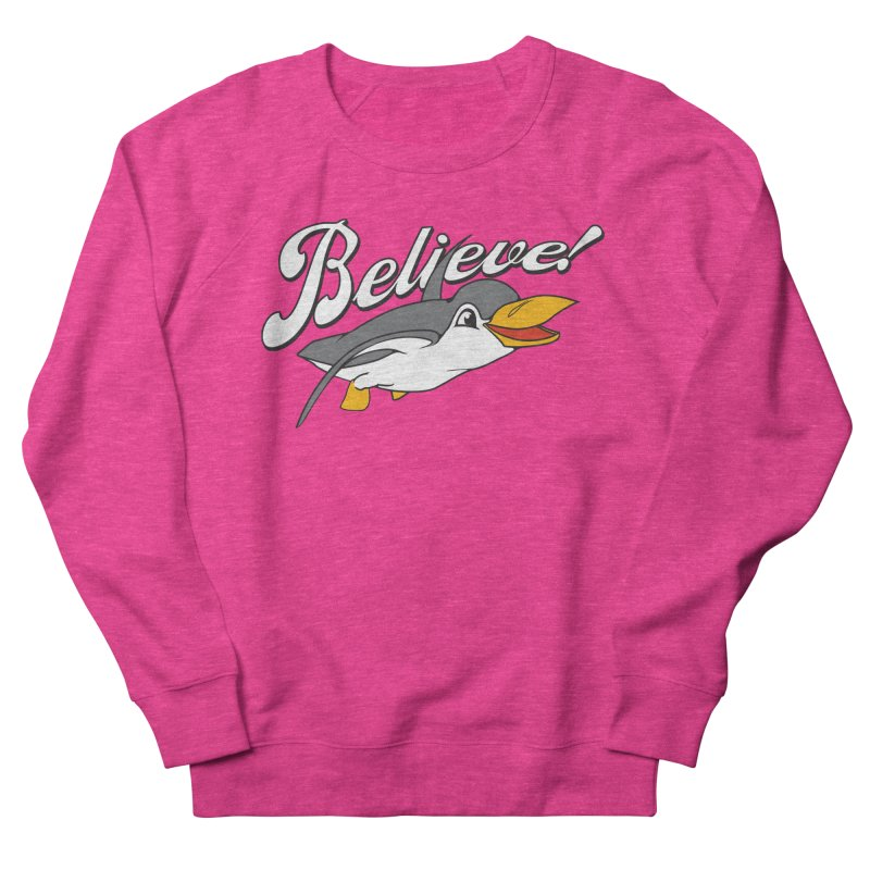 Believe! Women's Sweatshirt by voorheis's Artist Shop