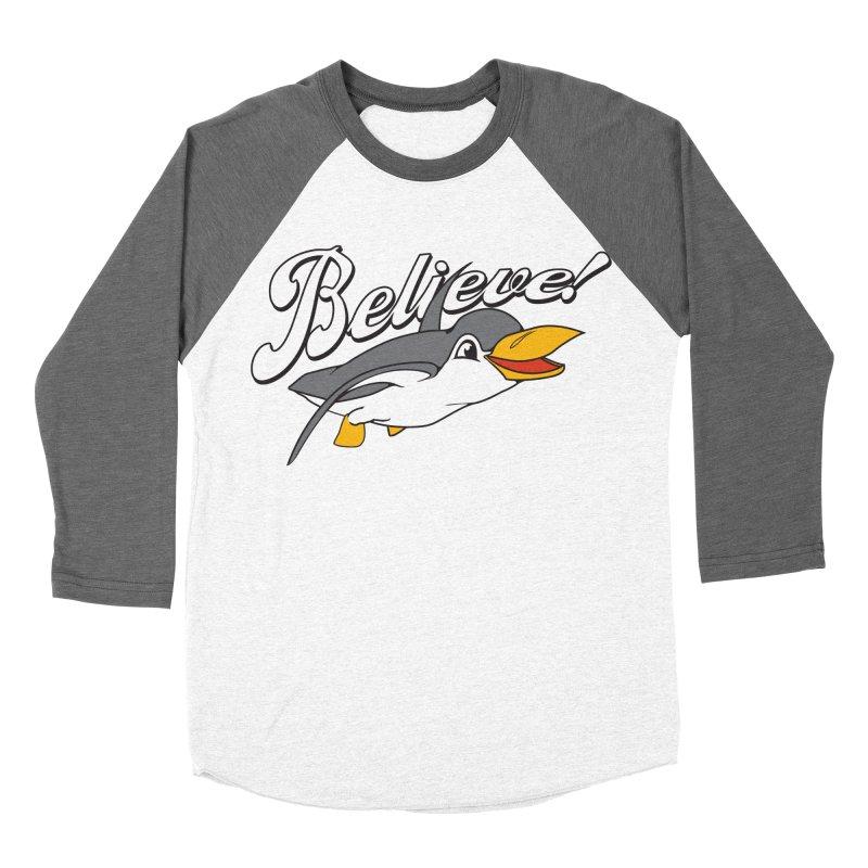 Believe! Women's Baseball Triblend T-Shirt by voorheis's Artist Shop