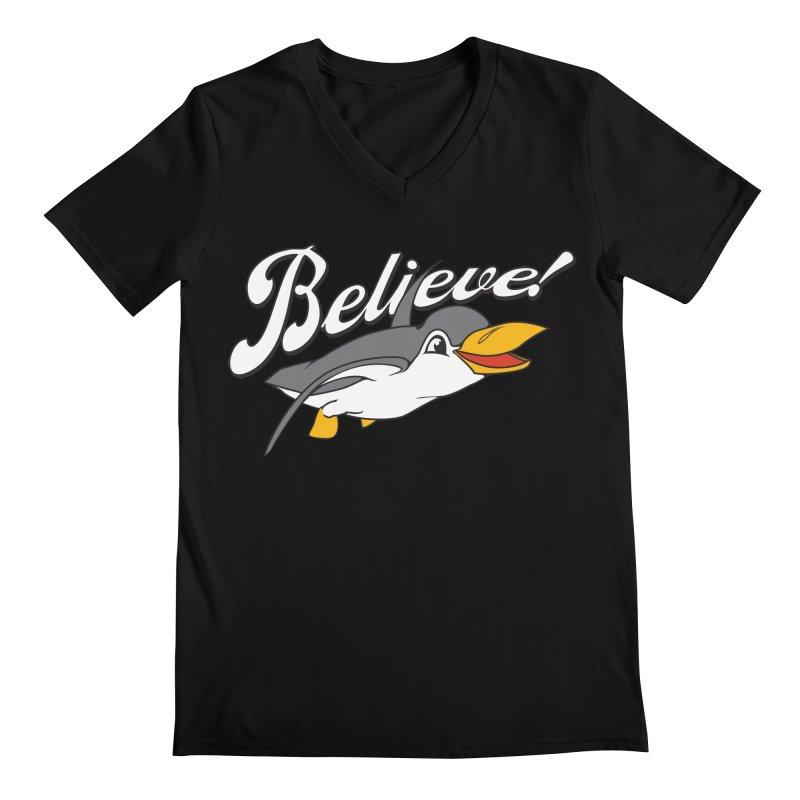 Believe! Men's V-Neck by voorheis's Artist Shop