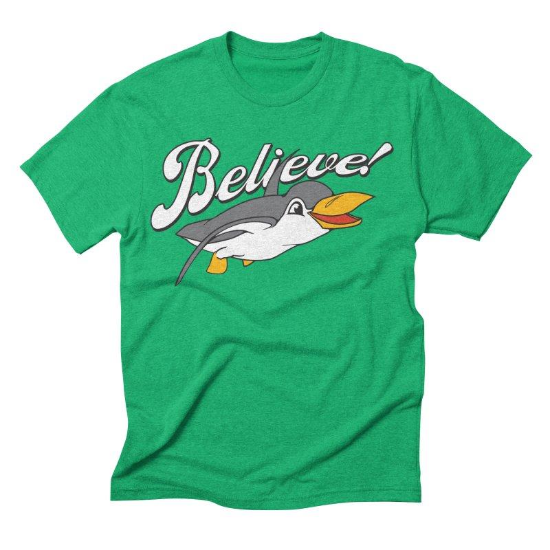 Believe! Men's Triblend T-shirt by voorheis's Artist Shop