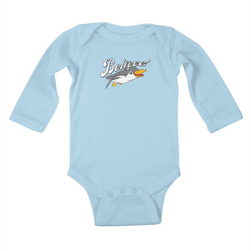Believe! Kids Baby Longsleeve Bodysuit by voorheis's Artist Shop