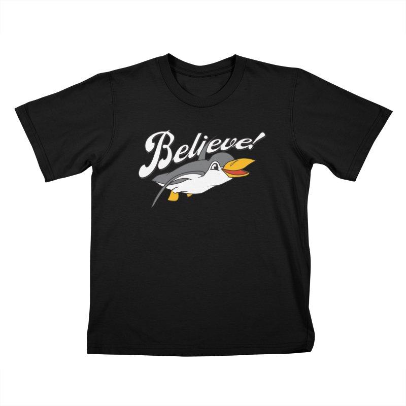 Believe! Kids T-shirt by voorheis's Artist Shop