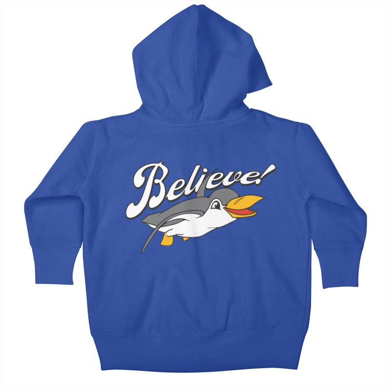 Believe! Kids Baby Zip-Up Hoody by voorheis's Artist Shop