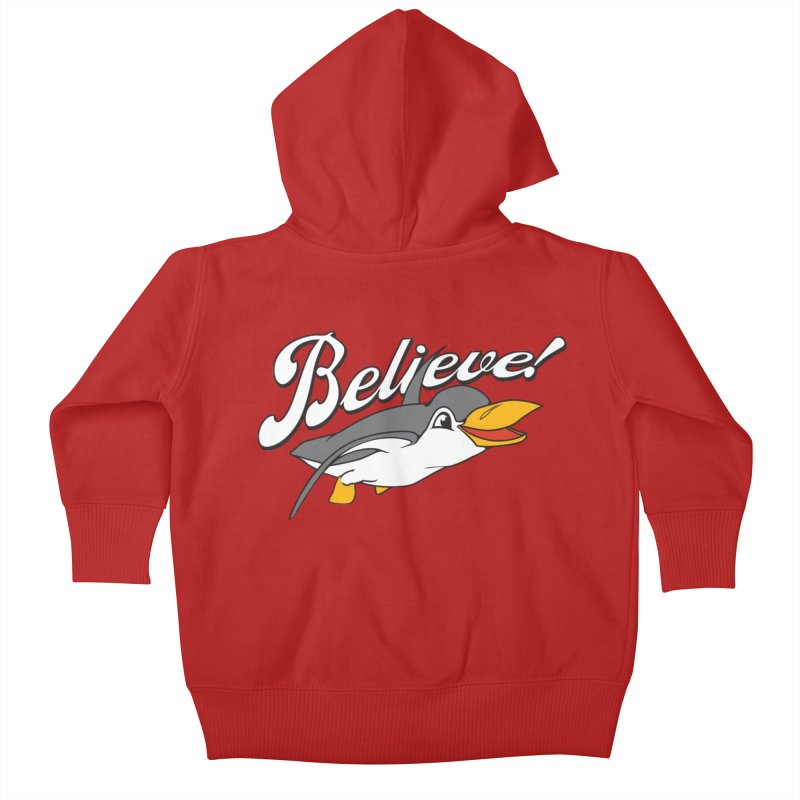 Believe! Kids Baby Zip-Up Hoody by voorheis's Artist Shop
