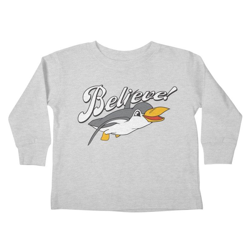 Believe! Kids Toddler Longsleeve T-Shirt by voorheis's Artist Shop