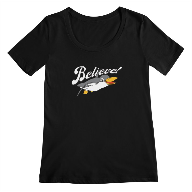 Believe! Women's Scoopneck by voorheis's Artist Shop