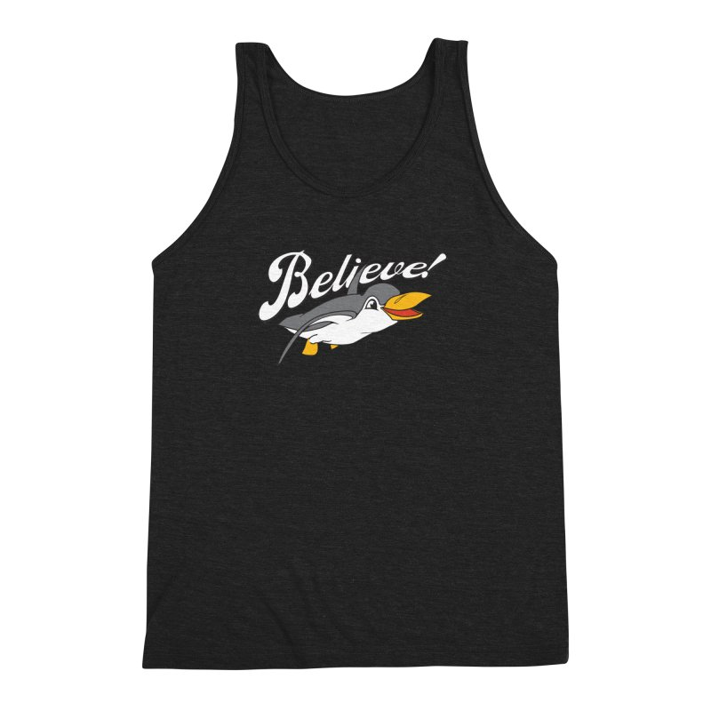 Believe! Men's Triblend Tank by voorheis's Artist Shop