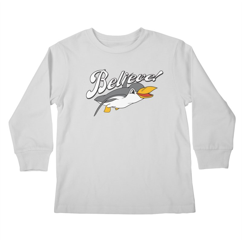 Believe! Kids Longsleeve T-Shirt by voorheis's Artist Shop