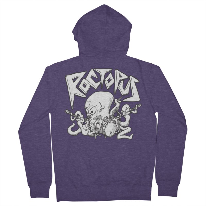 Rocktopus Men's Zip-Up Hoody by voorheis's Artist Shop