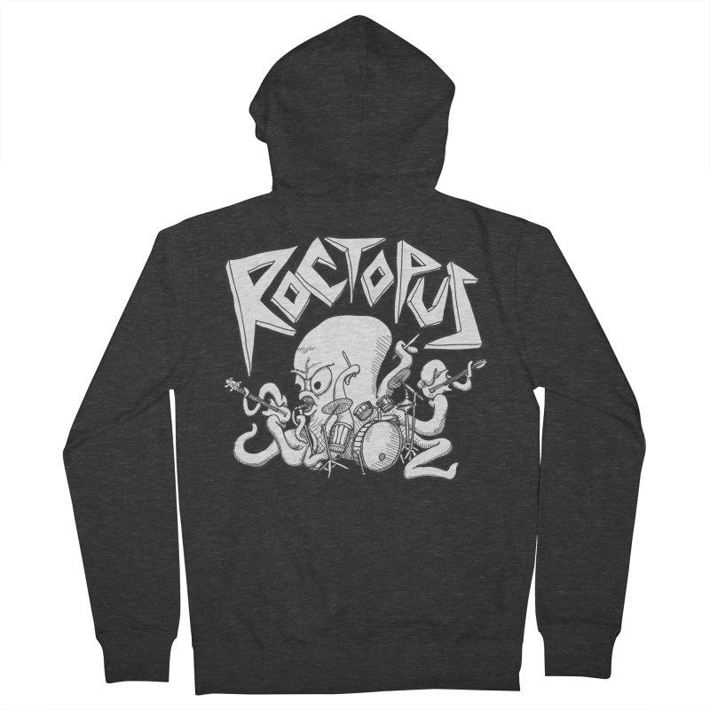 Rocktopus Men's Zip-Up Hoody by voorheis's Artist Shop