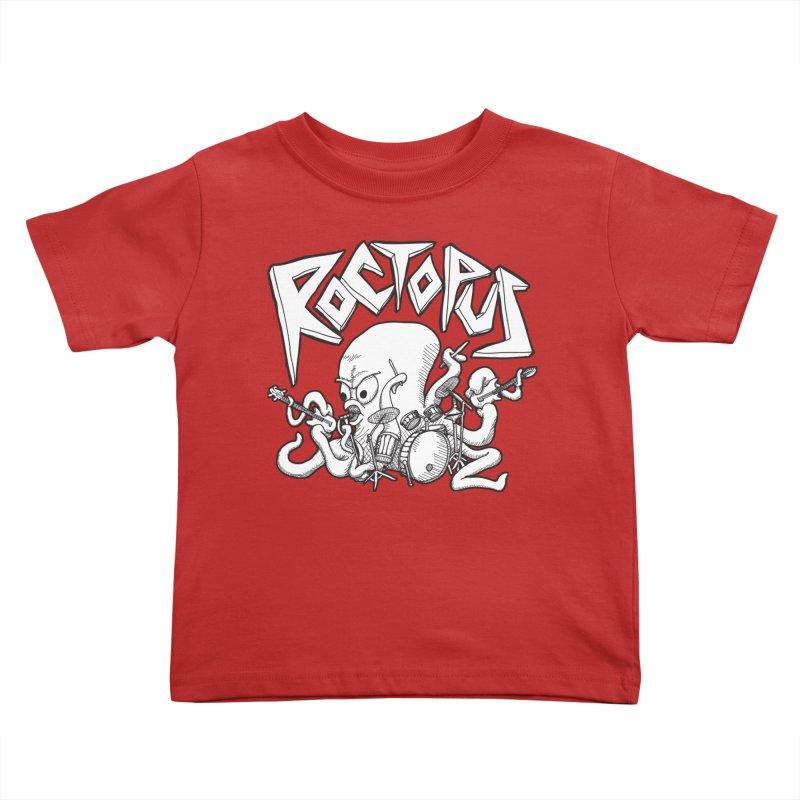 Rocktopus Kids Toddler T-Shirt by voorheis's Artist Shop
