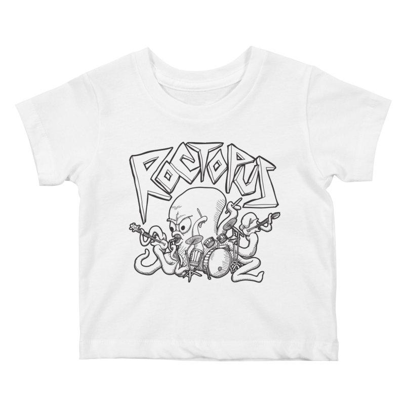 Rocktopus Kids Baby T-Shirt by voorheis's Artist Shop