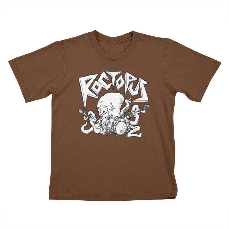 Rocktopus Kids T-shirt by voorheis's Artist Shop