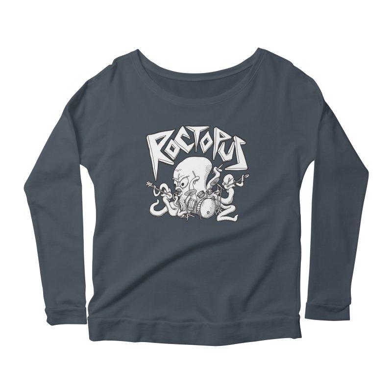 Rocktopus Women's Longsleeve Scoopneck  by voorheis's Artist Shop