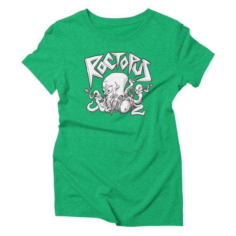 Rocktopus Women's Triblend T-shirt by voorheis's Artist Shop