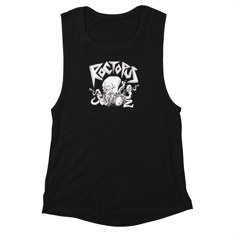 Rocktopus Women's Muscle Tank by voorheis's Artist Shop