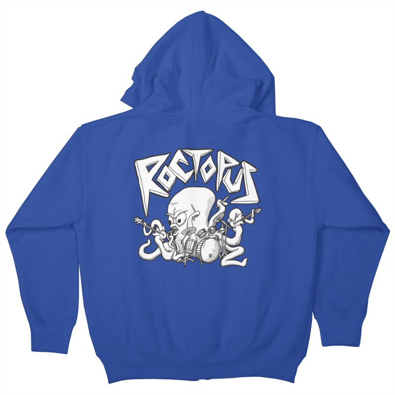 Rocktopus Kids Zip-Up Hoody by voorheis's Artist Shop