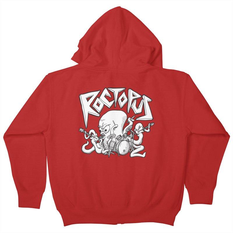 Rocktopus Kids Zip-Up Hoody by voorheis's Artist Shop