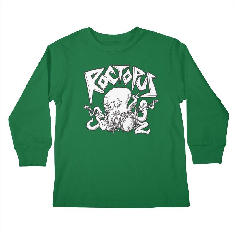 Rocktopus Kids Longsleeve T-Shirt by voorheis's Artist Shop
