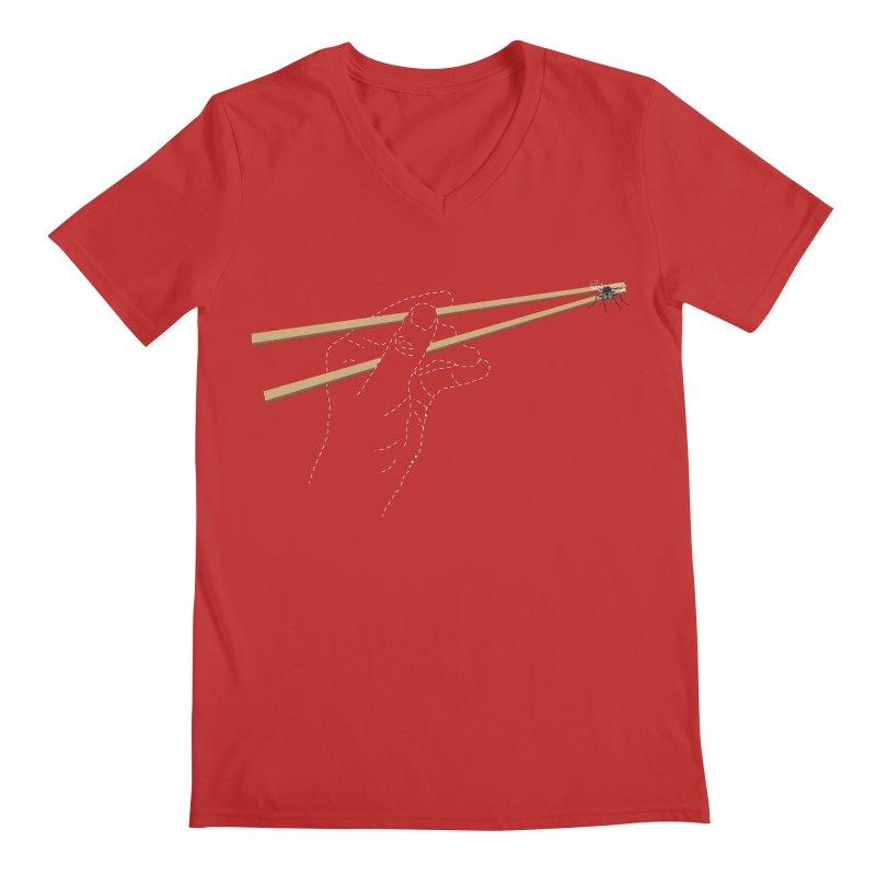 Chopsticks Men's V-Neck by voorheis's Artist Shop