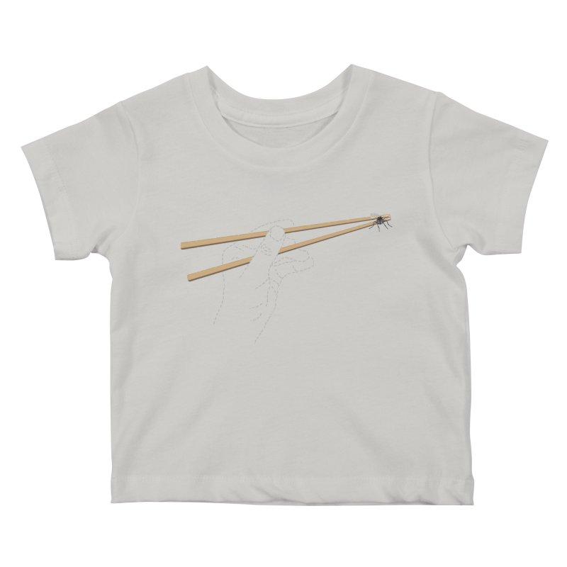 Chopsticks Kids Baby T-Shirt by voorheis's Artist Shop