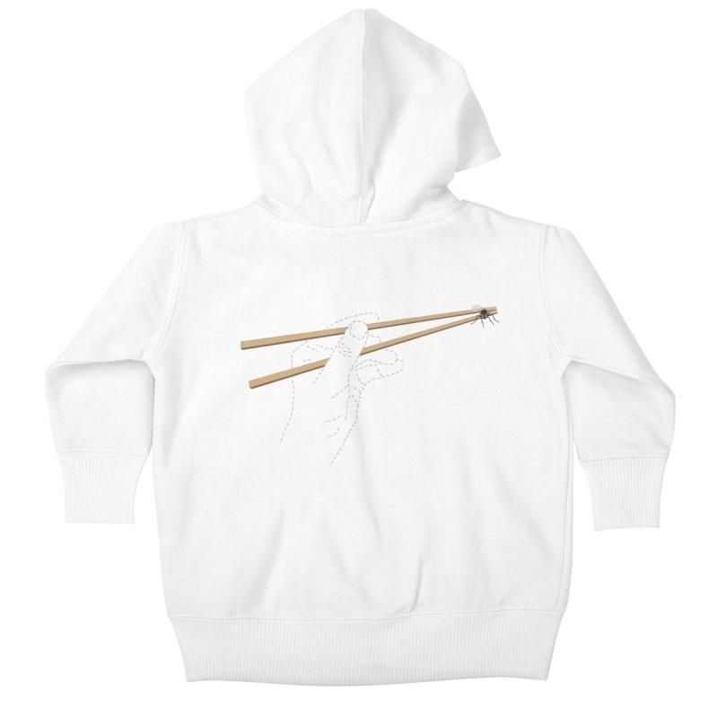 Chopsticks Kids Baby Zip-Up Hoody by voorheis's Artist Shop
