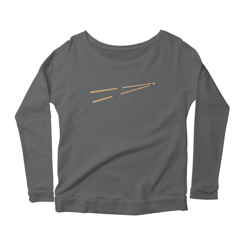 Chopsticks Women's Longsleeve Scoopneck  by voorheis's Artist Shop