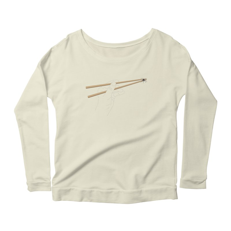 Chopsticks Women's Longsleeve Scoopneck  by voorheis's Artist Shop