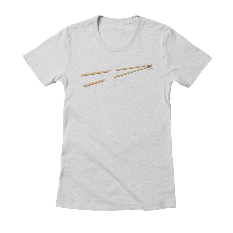 Chopsticks Women's Fitted T-Shirt by voorheis's Artist Shop