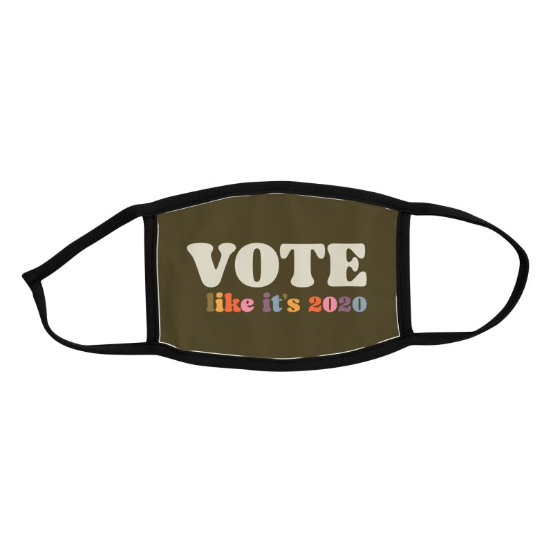 Rainbow for Dark Shirts Accessories Face Mask by Vote Like Its 2020