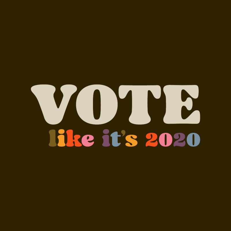 Rainbow for Dark Shirts Men's T-Shirt by Vote Like Its 2020