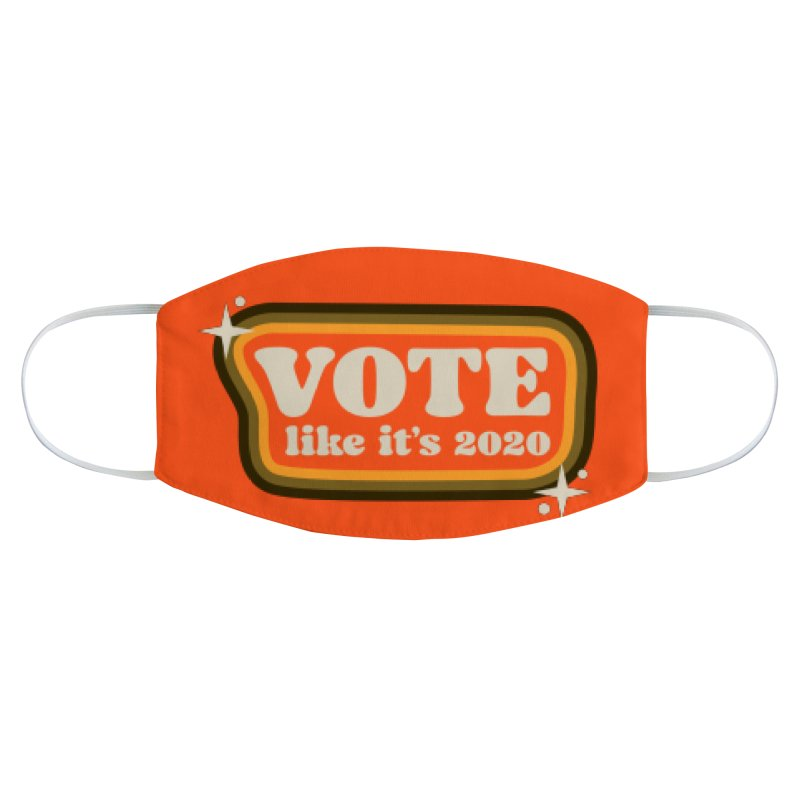 Retro sign - warm Accessories Face Mask by Vote Like Its 2020