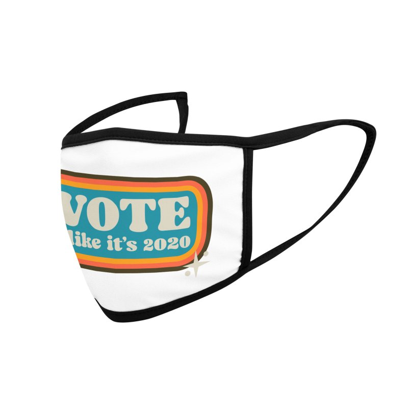 Retro sign - cool Accessories Face Mask by Vote Like Its 2020