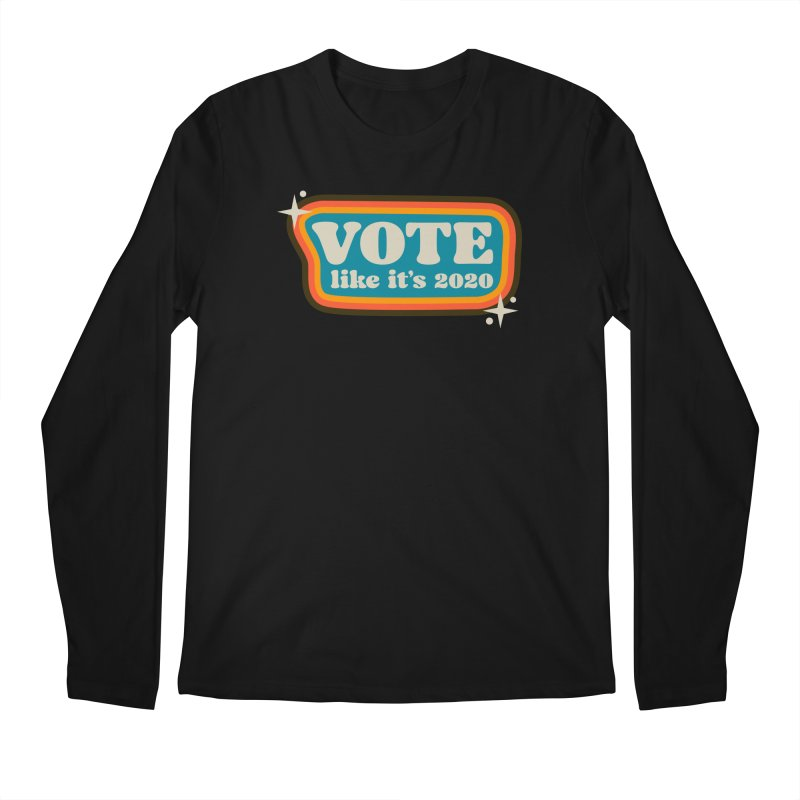 Retro sign - cool Men's Longsleeve T-Shirt by Vote Like Its 2020