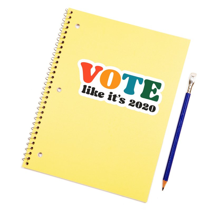 Simple Accessories Sticker by Vote Like Its 2020