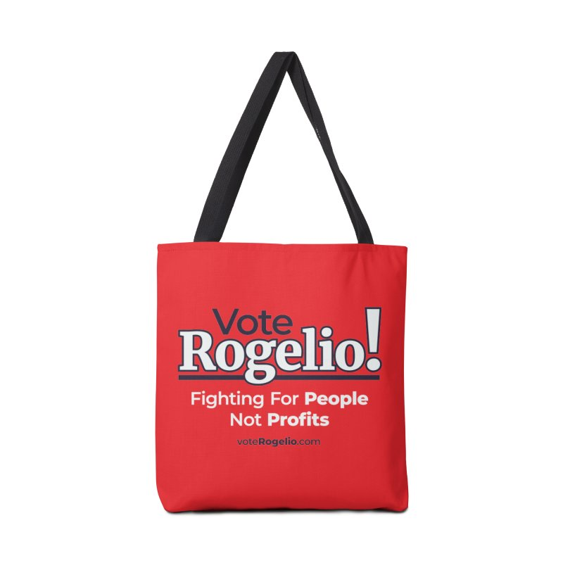 Fighting For People Not Profits - White Accessories Bag by Vote Rogelio!