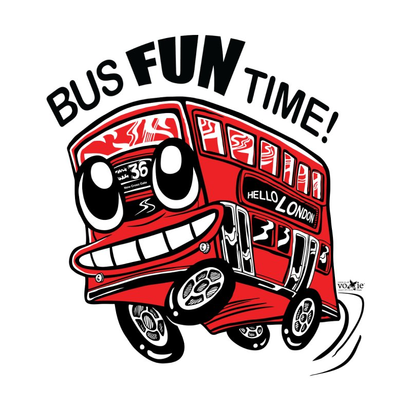 Bus Fun Time Kids  by voxie's Artist Shop