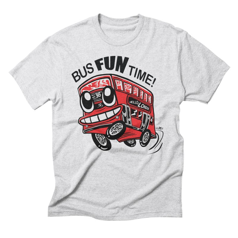 Bus Fun Time Men's Triblend T-shirt by voxie's Artist Shop