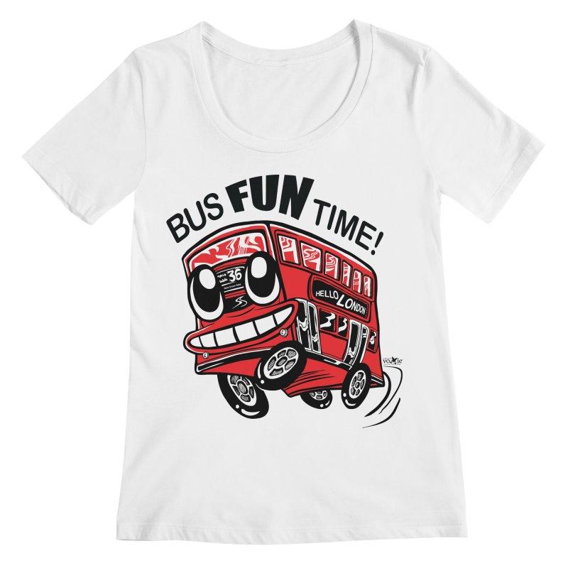 Bus Fun Time Women's Scoopneck by voxie's Artist Shop