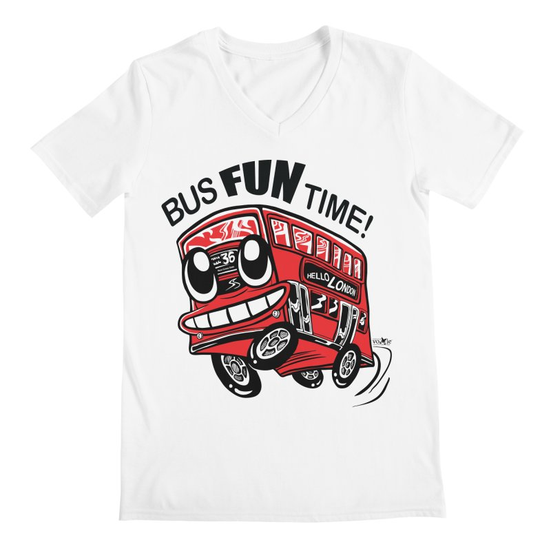Bus Fun Time Men's V-Neck by voxie's Artist Shop