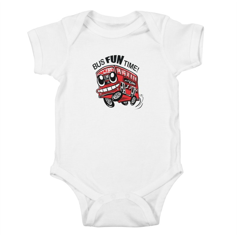 Bus Fun Time Kids Baby Bodysuit by voxie's Artist Shop