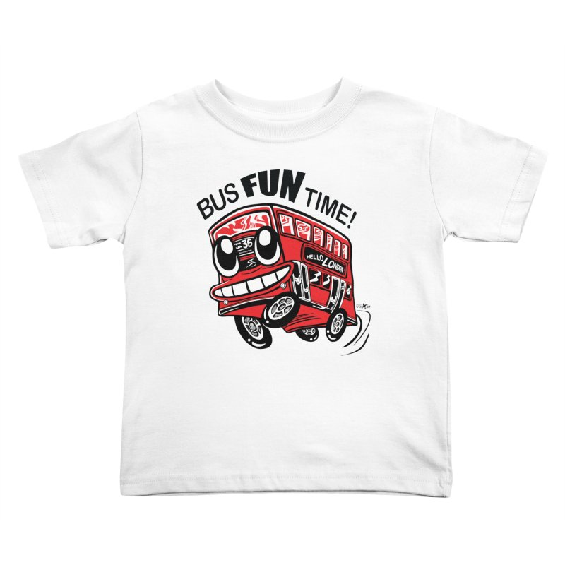 Bus Fun Time Kids Toddler T-Shirt by voxie's Artist Shop
